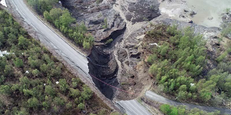 Norwegen Erdrutsch Alta