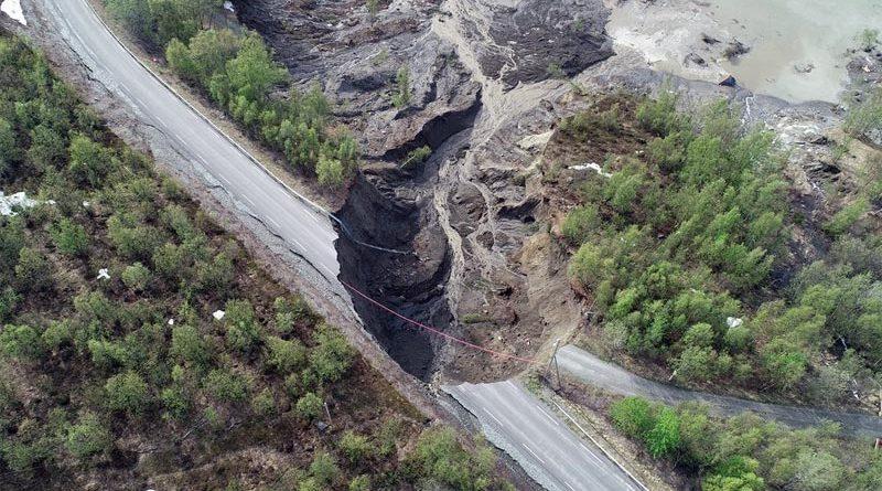 Erdrutsch Nordnorwegen