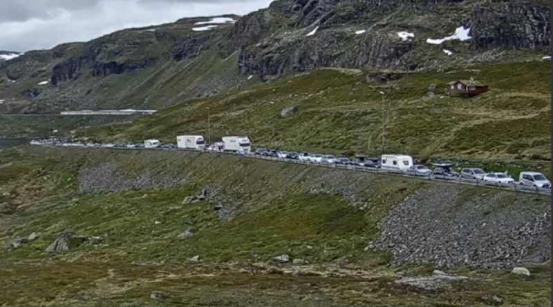 Verkehrschaos Reisen Norwegen