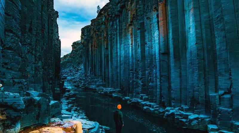 Stuðlagil Canyon Island