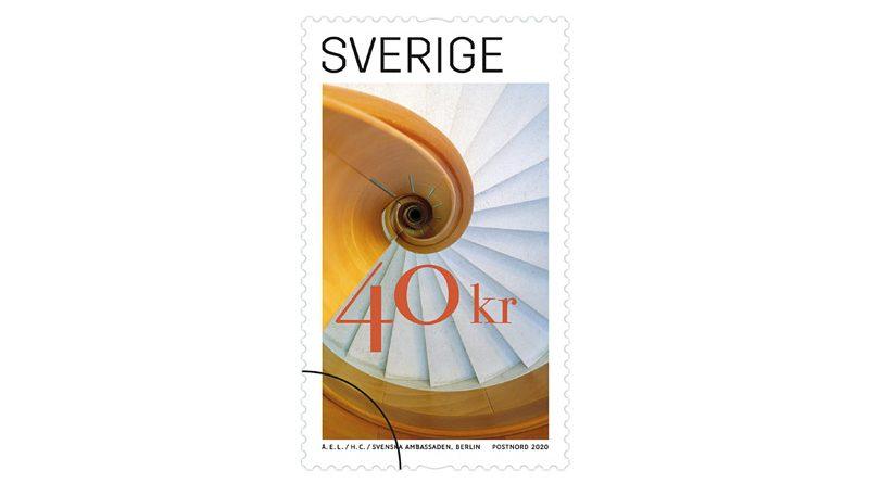 Briefmarke Schwedische Botschaft Berlin