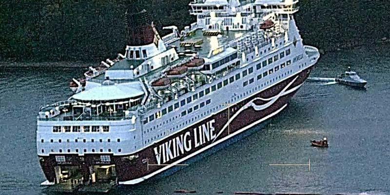 Fähre Viking Line auf Grund aufgelaufen