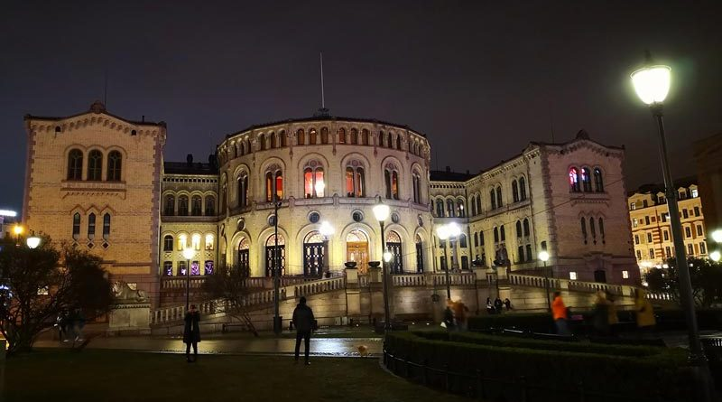 Parlamentsgebäude Norwegen Stortinget