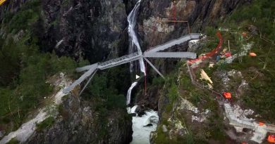 Vøringsfossen-Wasserfall Brücke