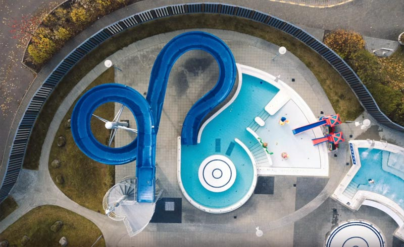 Empty pools of Reykjavik