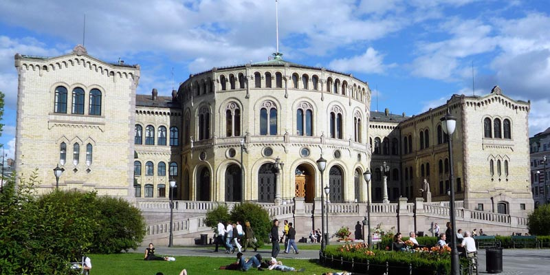 Storting Sitz Parlament Norwegen