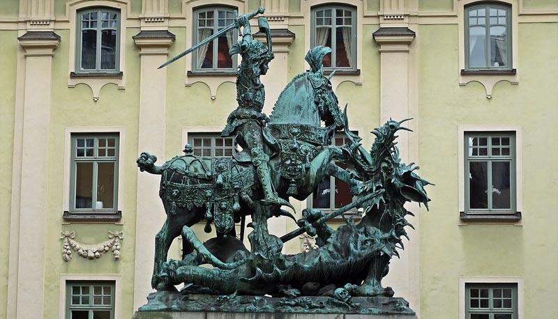Heiliger Georg Drache Stockholm