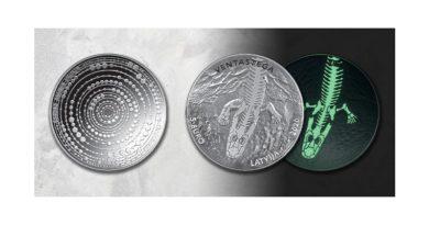 Lettische Sammlermünze Ventastega curonica
