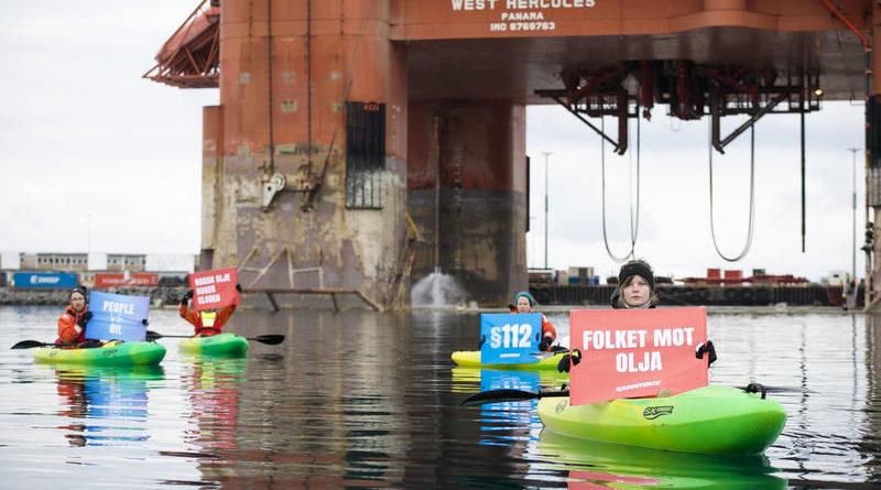 Ölbohrplattform Arktis Norwegen