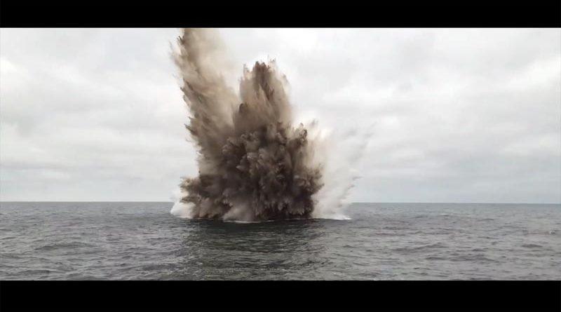 Seemine Sprengung Ostsee