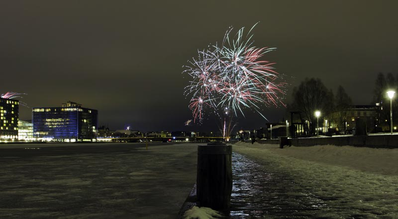 Feuerwerk Kopenhagen Neujahr