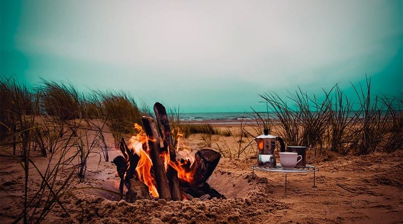 Lagerfeuer Camping in Estland