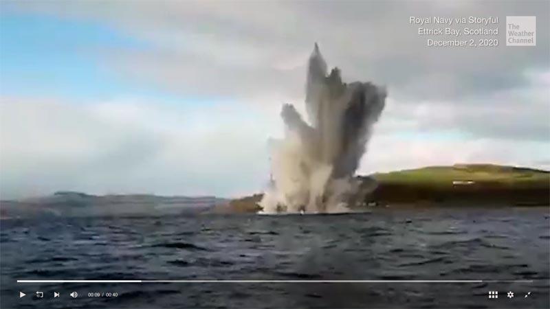 Weltkrieg Bombe schottland