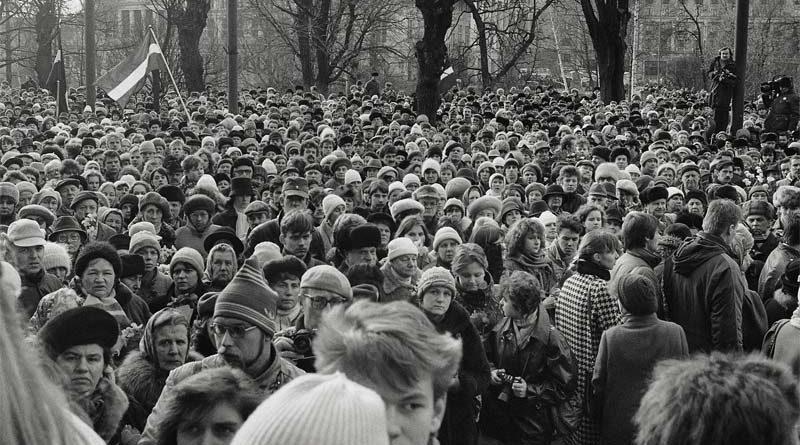 Fotoaussstellung Barrikaden Riga