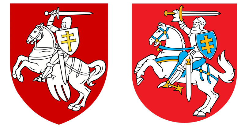 Pohonja und Staatswappen Litauen