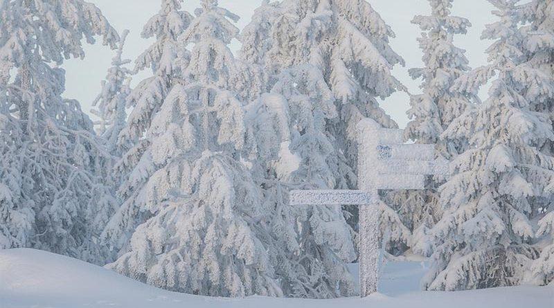 Schneesturm Finnland