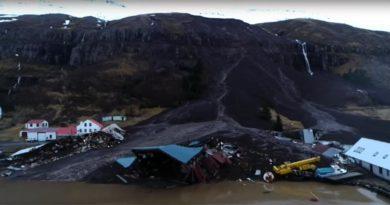 Erdrutsch Island