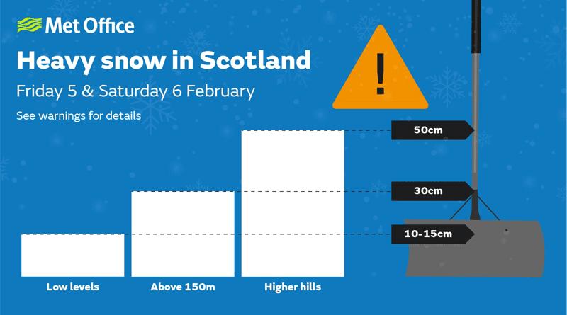 Schnee in Schottland Corona Impfung