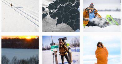 Junge Frau Wanderung Estland