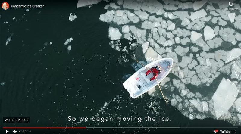 Ruderboot Eis Mann Finnland