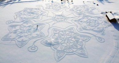 Schnee Kunst Schneeflocke