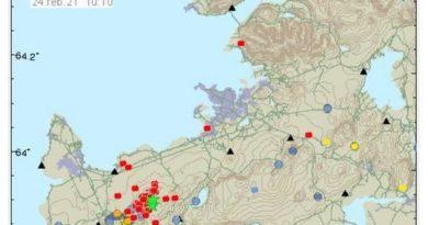 Island wackelt und wackelt: 800 Erdbeben in nur 10 Stunden registriert