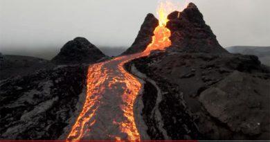Vulkanausbruch Island Video Drohne