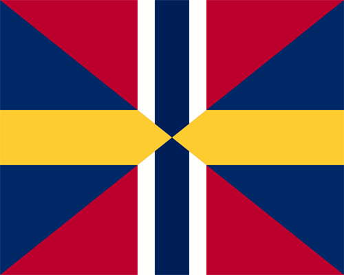 Gösche Schweden Norwegen Flagge