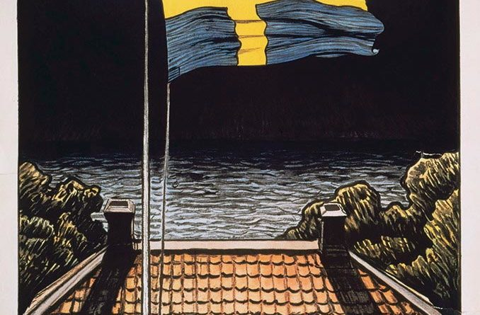 Plakat Tag der schwedischen Flagge