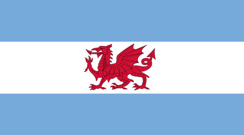 Flagge der walisichen Kolonie in Argentinien