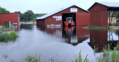 Überflutung Gävle Schweden