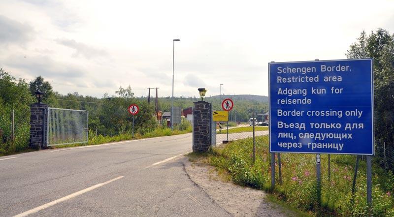 Grenze Norwegen Russland