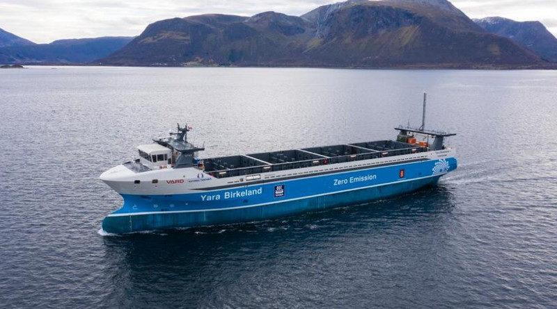 emissionsfreies frachtschiff