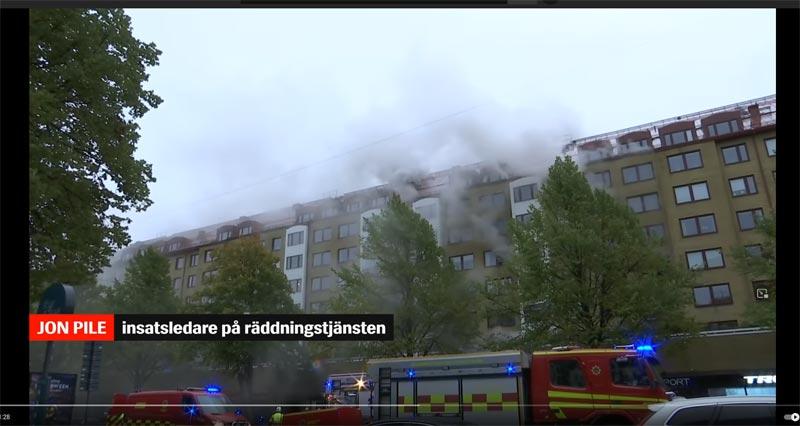 Explosion Göteborg Brand Schweden