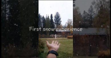 Erster Schnee Finnland