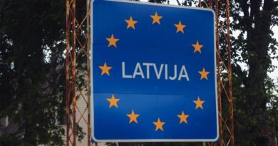 Lattland Grenze Weißrussland