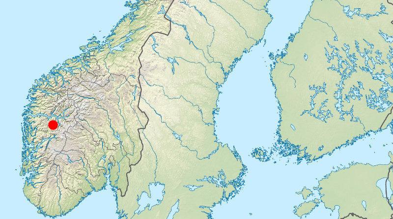 Karte Flåm Norwegen